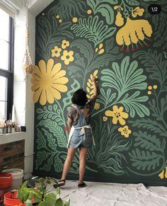 Mural Wall Art, Mural Painting, Bathroom Mural, Wall Design, House Design, Murals Street Art, Wall Treatments, Paint Designs, Home Decor Inspiration