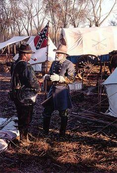 Gen. Robert Lee talked to solider .