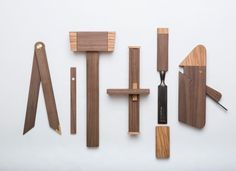 A designed-oriented toolbox that holds six tools, beautifully.