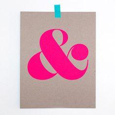 Ampersand Art Print.