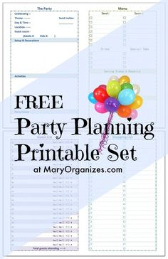 Party Planning [Printable] Set