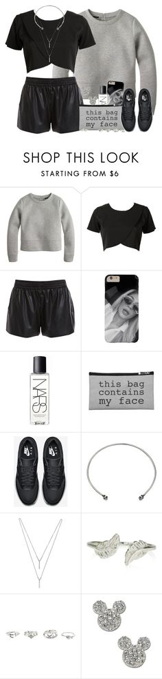 """""""Mono."""" by nasiaswaggedout ❤ liked on Polyvore featuring J.Crew, Bardot, NARS Cosmetics, NIKE, DANNIJO, BCBGeneration, Accessorize, Charlotte Russe and Disney Couture"""