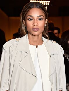 Loving Ciara's perfectly sculpted brows, glowing skin and matte lips