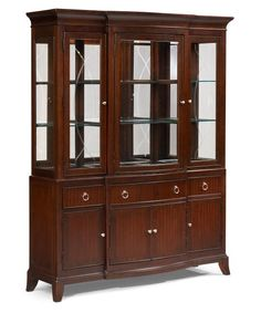 Elegant China Cabinet and Buffet Table Set