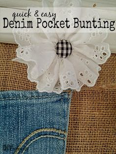 Simple Denim Pocket Bunting