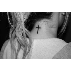 simple black cross back of neck