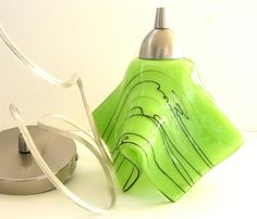 lime green kitchen island pendant light by uneek glass fusions