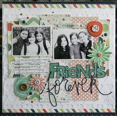 & Cards Today: Friends Forever Friends Forever Scrapbook Page LauraVegas_SCTSummer_FriendsForeverFriends Forever Scrapbook Page LauraVegas_SCTSummer_FriendsForever Baby Scrapbook Pages, Kids Scrapbook, Scrapbook Designs, Scrapbook Page Layouts, Scrapbook Albums, Scrapbook Cards, Scrapbooking Layouts Friends, Baseball Scrapbook, School Scrapbook