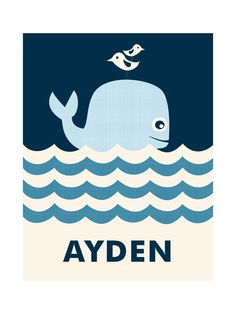 Animal, Modern, Blue Children Custom Art From Minted By Independent Artist Creaform Design Called Ocean Whale With Printing On In Navy NCA. Whale Nursery, Nautical Nursery, Nursery Wall Art, Baby Whale, Nursery Ideas, Nursery Decor, Room Ideas, Whale Art, Ocean Art