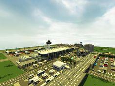 [Minecraft] Airport by Yazur on deviantART