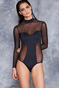 Witch Queen Sheer Bodysuit - LIMITED ($99AUD) by BlackMilk Clothing