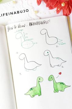 How cute is this little step by step tutorial to draw a dinosaur!? Check out the rest of the list for more cute tutorials!