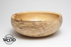 Wood Bowl Hand Wood turned Pecan Spalted with beautiful