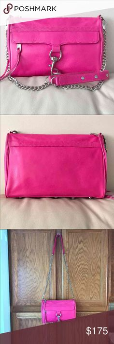"Rebecca Minkoff MAC (Regular Size) Crossbody Bag Worn once. Perfect condition. Color is Bright Pink.   11"" x 2"" x 8"", with a 21"" strap drop. Rebecca Minkoff Bags Crossbody Bags"