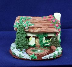 Water Lily Cottage  Miniature Cottage or Fairy Home by Cricketmoon, $49.00