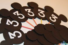 Mickey Mouse Cupcake Toppers  Set of 12 by LoopyHeads on Etsy