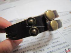 Easter gift Adjustable Leather Bracelet /Buckle by sevenvsxiao, $7.50