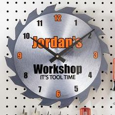 Send Saw Blade Clock From Personal Creations Fast Shipping And Nationwide Delivery Arttowngifts Dad Gifts