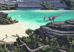 """Simon Stålenhag -- """"Fossils & Evolution"""" Exhibition at the Swedish Museum of Natural History"""