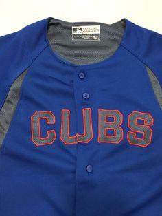 Chicago Cubs Youth M Baseball MLB True Fan Short-Sleeve Blue Jersey #TrueFan #ChicagoCubs