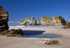 Wharariki Beach & Archway Islands, Puponga Farm Park, The South Island, New Zealand