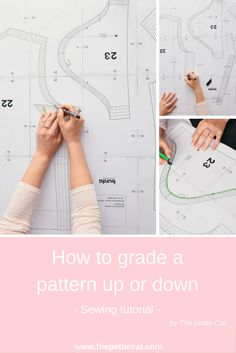 In this tutorial, I'll be showing you a simple method to grade a multi-sized pattern up or down. You can make the pattern bigger or smaller by up to two extra sizes and sew the pattern of your dreams that didn't come in your size by default!