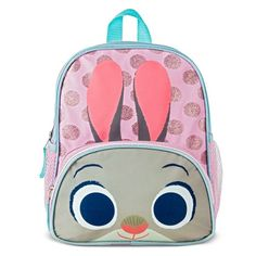 This adorable Judy Hopps backpack is 13 inches long. Perfect for a spring look and great to stuff with Easter goodies for your favorite girl!