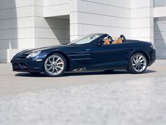 2008 Mercedes-Benz SLR McLaren Roadster - Side Angle Blue - 1920x1440 - Wallpaper