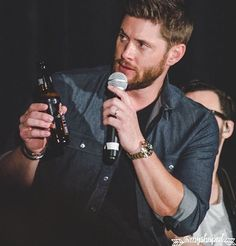 Jealous of that bottle and microphone, however, I would be suspicious of a beer from misha too