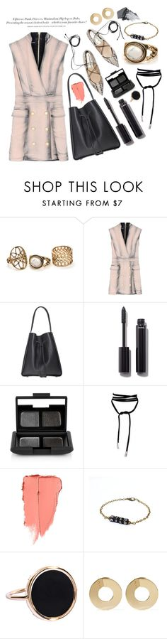 """""""#ContestOnTheGo #ContestEntry"""" by miee0105 ❤ liked on Polyvore featuring H&M, Balmain, Chanel, NARS Cosmetics, Ginette NY, Noir Jewelry, contestentry and ContestOnTheGo"""