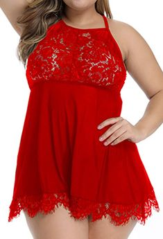 Details about  /Sexy Chemise Lace Plunge Babydoll Sleeveless Lingerie Backless Nightwear