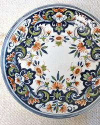 Tichelaar Polychrome Makkum Hand Painted Floral Plate