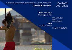 """Anote aí!  Sexta (28), às 19:30, tem Cinebook com o filme 'Males Sem Terra', na Casa da Cultura Paraty Cultural. O filme conta a estória da preparação para """"os grandes jogos"""" na Guanabara, na era dos linchamentos, da resistência e ressurgimento do movimento indígena, da falência vital e linguística dos velhos rebentos das doutrinas de manada. #CasaDaCultura #CasaDaCulturaParaty #exposição #fotografia #música #cultura #turismo #arte #cinema #VisiteParaty #TurismoParaty #Paraty…"""