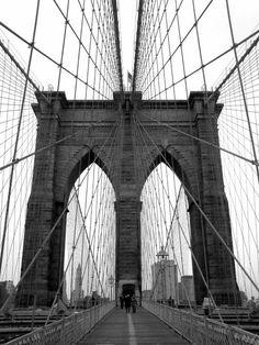 Andreas Feininger Brooklyn Bridge. New York City (1940)