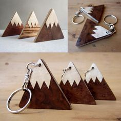 Wooden mountains. Keychain. Magnet. #amokori www.amokori.com