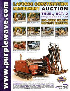 LaForge Construction Retirement Auction October 2, 2014 http://purplewave.com/a/141002
