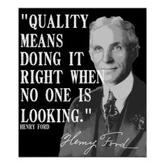 Quality means... posters