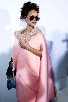 Dior Spring Summer 2016…Rhianna rarely misses.  She is beautiful and isn't afraid of Fashion.