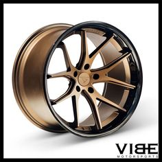 Ferrada Matte Bronze W/ Gloss Black Lip Custom Wheels Bronze Wheels, Gold Wheels, Car Wheels, Rims And Tires, Rims For Cars, Car Rims, Truck Paint, Maserati Ghibli, Black Lips
