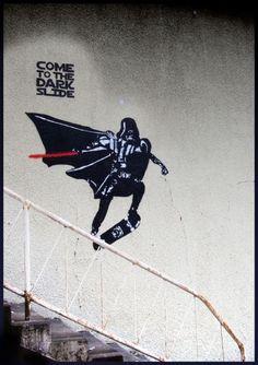 """"""" Viens du côté obscur..."""" / Street art. / By Blouh."""