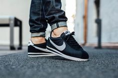 Classic Cortez by NIKE in #blackandwhite #sneakers