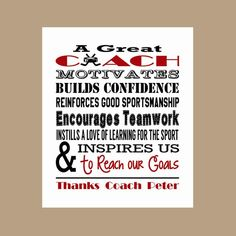 Coach Appreciation Gift Coach Gift Coach Thank You Instant Soccer Coach Quotes, Hockey Coach, Basketball Coach, Basketball Quotes, Netball Quotes, Gymnastics Quotes, Volleyball Quotes, Maserati, Football Coach Gifts
