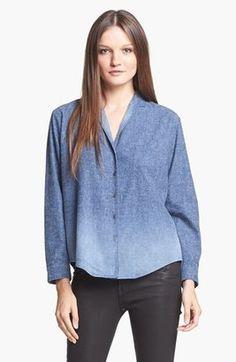 Theyskens' Theory Brana Wambray Shirt Indigo Small #15things #trending #fashion #style #denim  #Theyskens'Theory