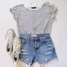 Sweet summer outfits for teens 37 - Frauen Sommer Mode - outfit ideen Tumblr Outfits, Mode Outfits, Fashion Outfits, Fashion Trends, Latest Fashion, Fashion Ideas, Fashion 2016, Womens Fashion, Teenager Mode