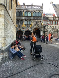 in front of the Basilica of the Holy Blood @Bruges