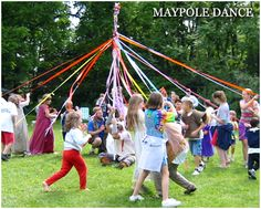 Maypole Dance - A Christian Mass celebrated in England at midnight on May 1st.