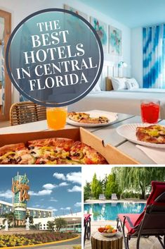 Planning a vacation to the sunshine state? Weve found the best hotels in Central Florida!   Check out these luxury and budget friendly hotels next to the best restaurants, Disney World, Universal, the convention center and all the most fun attractions in town. #Orlando #Hotels #ThingsToDo #BestHotelsInFlorida
