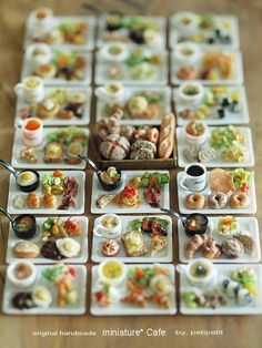 Miniature Cafe menu