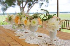 Vera Wang  Band: Tayo Reed Band- Venue: Marshlands  Event Designer: Ashley Rhodes Events  Floral Designer: Wildes Floral Design  Equipment Rentals: Amazing Event Rentals  Dress Designer: