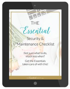 The Essential Security & Maintenance Checklist for your WordPress Website
